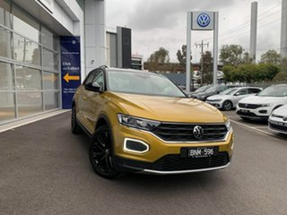 2021 Volkswagen T-ROC A1 MY21 110TSI Style Yellow 8 Speed Sports Automatic Wagon.