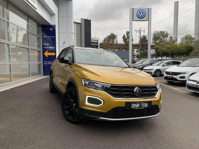 Demo Volkswagen T-ROC A1 MY21 110TSI Style Port Melbourne, 2021 Volkswagen T-ROC A1 MY21 110TSI Style Yellow 8 Speed Sports Automatic Wagon