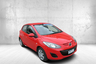 2012 Mazda 2 DE10Y2 MY12 Neo Red 4 Speed Automatic Hatchback.