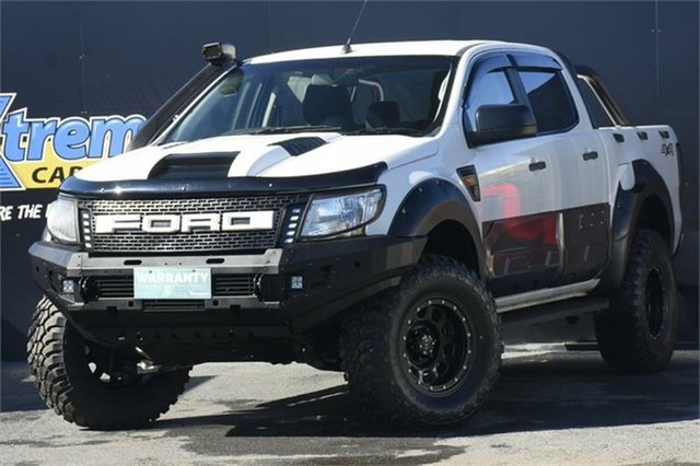 Used Ford Ranger PX XL Campbelltown, 2011 Ford Ranger PX XL White 6 Speed Manual Utility