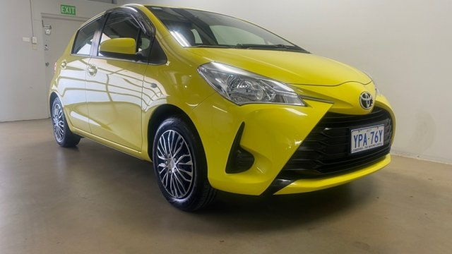 Used Toyota Yaris NCP130R MY18 Ascent Phillip, 2019 Toyota Yaris NCP130R MY18 Ascent Yellow 4 Speed Automatic Hatchback