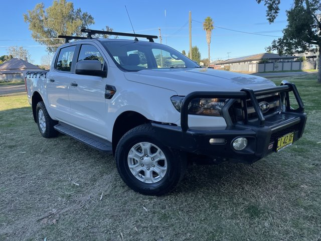 Used Ford Ranger PX MkII XLS Double Cab Moree, 2016 Ford Ranger PX MkII XLS Double Cab White 6 Speed Sports Automatic Utility