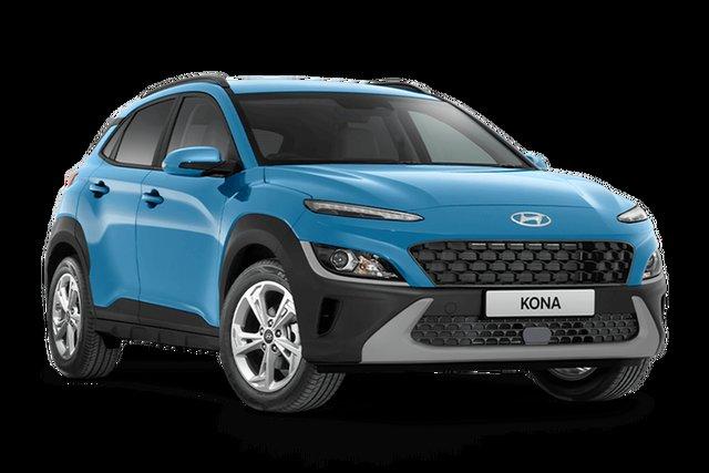 New Hyundai Kona Os.v4 MY21 Active 2WD Hamilton, 2021 Hyundai Kona Os.v4 MY21 Active 2WD Surfy Blue 8 Speed Constant Variable Wagon