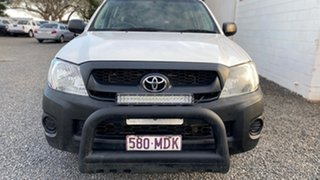 2011 Toyota Hilux TGN16R MY11 Upgrade Workmate White 5 Speed Manual Dual Cab.