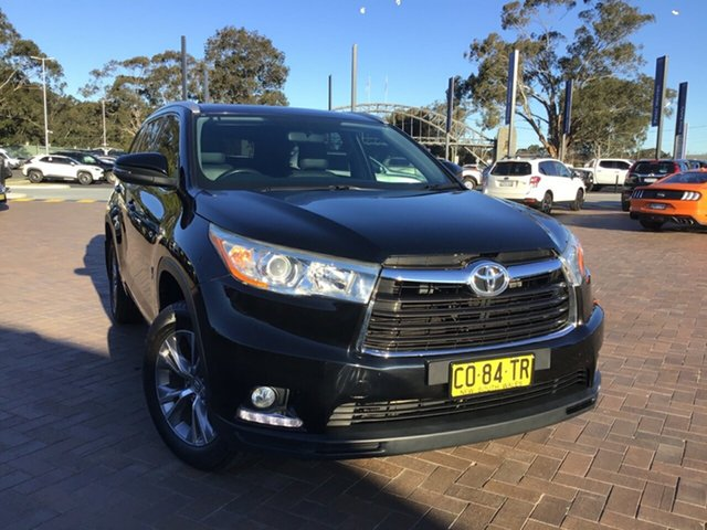 Pre-Owned Toyota Kluger GSU50R GXL 2WD Warwick Farm, 2015 Toyota Kluger GSU50R GXL 2WD Black 6 Speed Sports Automatic SUV