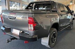 2018 Toyota Hilux GUN126R Rugged X Double Cab Grey 6 Speed Manual Utility.