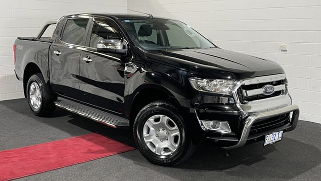Used Ford Ranger PX MkII XLT Double Cab Glenorchy, 2017 Ford Ranger PX MkII XLT Double Cab Black 6 Speed Sports Automatic Utility