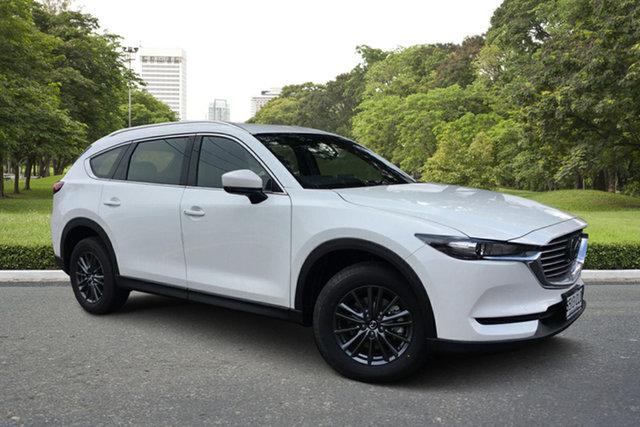 Demo Mazda CX-8 KG2WLA Sport SKYACTIV-Drive FWD Paradise, 2021 Mazda CX-8 KG2WLA Sport SKYACTIV-Drive FWD White Pearl 6 Speed Sports Automatic Wagon