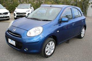 2014 Nissan Micra K13 MY13 ST-L Blue 4 Speed Automatic Hatchback.