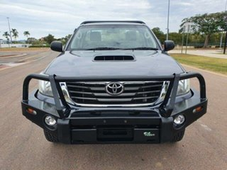 2014 Toyota Hilux KUN26R MY14 SR Galactic Grey 5 Speed Manual Cab Chassis.