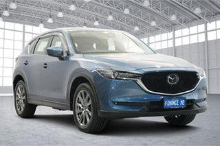 2019 Mazda CX-5 KF4WLA Akera SKYACTIV-Drive i-ACTIV AWD Blue 6 Speed Sports Automatic Wagon.