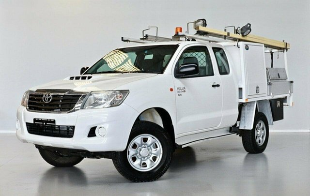 Used Toyota Hilux KUN26R MY12 SR Xtra Cab Thomastown, 2013 Toyota Hilux KUN26R MY12 SR Xtra Cab White 5 Speed Manual Cab Chassis