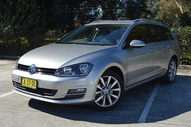 Used Volkswagen Golf VII MY15 103TSI DSG Highline Maitland, 2014 Volkswagen Golf VII MY15 103TSI DSG Highline Silver, Chrome 7 Speed