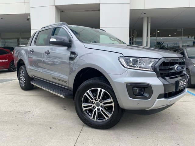 Used Ford Ranger PX MkIII 2021.25MY Wildtrak Oakleigh, 2021 Ford Ranger PX MkIII 2021.25MY Wildtrak Silver 6 Speed Sports Automatic Double Cab Pick Up