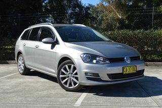 2014 Volkswagen Golf VII MY15 103TSI DSG Highline Silver, Chrome 7 Speed.