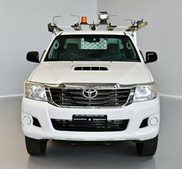 2013 Toyota Hilux KUN26R MY12 SR Xtra Cab White 5 Speed Manual Cab Chassis.