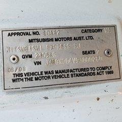 2008 Mitsubishi Express SJ M07 MWB White 5 Speed Manual Van