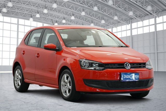Used Volkswagen Polo 6R MY11 77TSI DSG Comfortline Victoria Park, 2011 Volkswagen Polo 6R MY11 77TSI DSG Comfortline Red 7 Speed Sports Automatic Dual Clutch