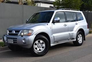 2003 Mitsubishi Pajero NP MY04 Exceed Silver 5 Speed Sports Automatic Wagon.