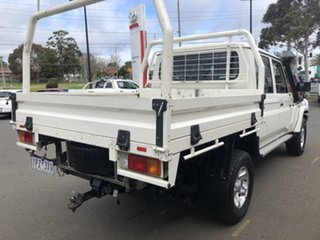 2017 Toyota Landcruiser VDJ79R GXL (4x4) French Vanilla 5 Speed Manual Double Cab Chassis.