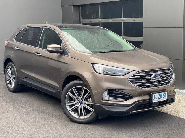 Used Ford Endura CA 2019MY Titanium Hobart, 2019 Ford Endura CA 2019MY Titanium Grey 8 Speed Sports Automatic Wagon
