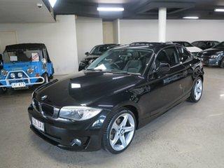 2012 BMW 1 Series E82 LCI MY0312 120i Steptronic Black 6 Speed Sports Automatic Coupe.