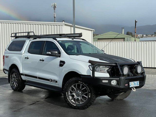 Used Ford Ranger PX MkII XLT Double Cab Moonah, 2017 Ford Ranger PX MkII XLT Double Cab White 6 Speed Sports Automatic Utility