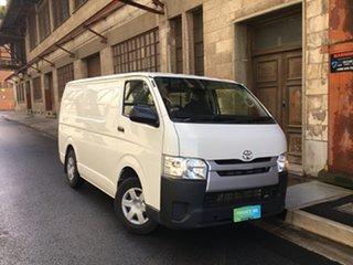 2017 Toyota HiAce TRH201R LWB White 5 Speed Manual Van.