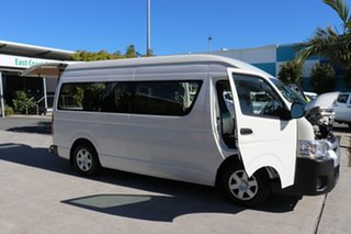 2017 Toyota HiAce KDH223R Commuter High Roof Super LWB White 5 speed Manual Bus