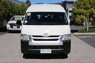 2017 Toyota HiAce KDH223R Commuter High Roof Super LWB White 5 speed Manual Bus.
