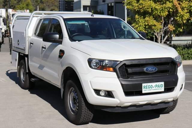 Used Ford Ranger PX MkII XL Hi-Rider Robina, 2016 Ford Ranger PX MkII XL Hi-Rider White 6 speed Automatic Cab Chassis