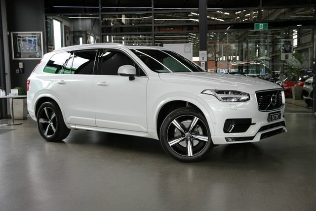 Used Volvo XC90 L Series MY18 T6 Geartronic AWD R-Design North Melbourne, 2018 Volvo XC90 L Series MY18 T6 Geartronic AWD R-Design White 8 Speed Sports Automatic Wagon