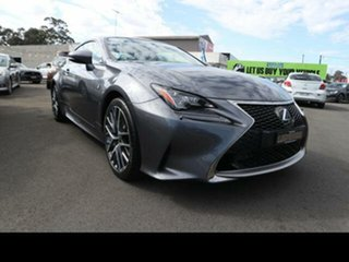 2015 Lexus RC350 GSC10R F Sport Grey 8 Speed Automatic Coupe.