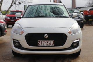 2018 Suzuki Swift AZ GL Navigator White 5 Speed Manual Hatchback.