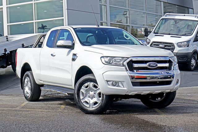 Used Ford Ranger PX MkII XLT Super Cab Springwood, 2016 Ford Ranger PX MkII XLT Super Cab White 6 Speed Manual Utility