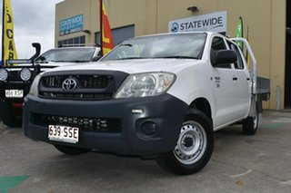 2009 Toyota Hilux TGN16R 09 Upgrade Workmate White 5 Speed Manual Dual Cab Pick-up.