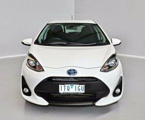 2017 Toyota Prius c NHP10R E-CVT White 1 Speed Constant Variable Hatchback Hybrid.