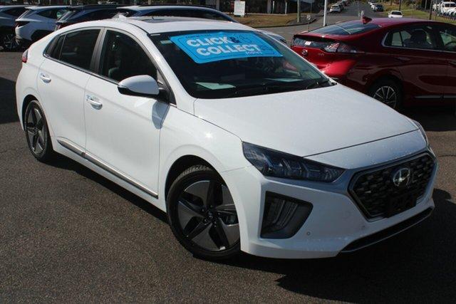 New Hyundai Ioniq AE.V4 MY22 hybrid DCT Premium North Gosford, 2021 Hyundai Ioniq AE.V4 MY22 hybrid DCT Premium Polar White 6 Speed Sports Automatic Dual Clutch
