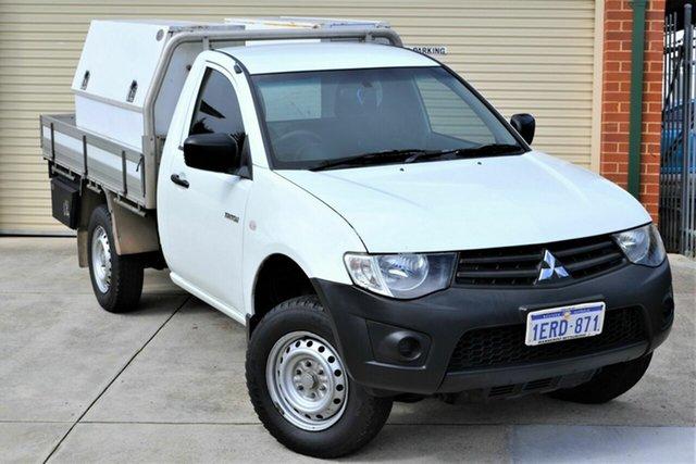 Used Mitsubishi Triton MN MY15 GL 4x2 Mount Lawley, 2014 Mitsubishi Triton MN MY15 GL 4x2 White 5 Speed Manual Cab Chassis