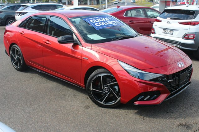 New Hyundai i30 CN7.V1 MY21 N Line D-CT Special Edition North Gosford, 2021 Hyundai i30 CN7.V1 MY21 N Line D-CT Special Edition Lava Orange 7 Speed