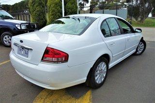 2007 Ford Fairmont BF Mk II White 4 Speed Sports Automatic Sedan.