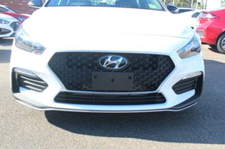 2021 Hyundai i30 PD.V4 MY21 N Line D-CT Premium Polar White 7 Speed Sports Automatic Dual Clutch.