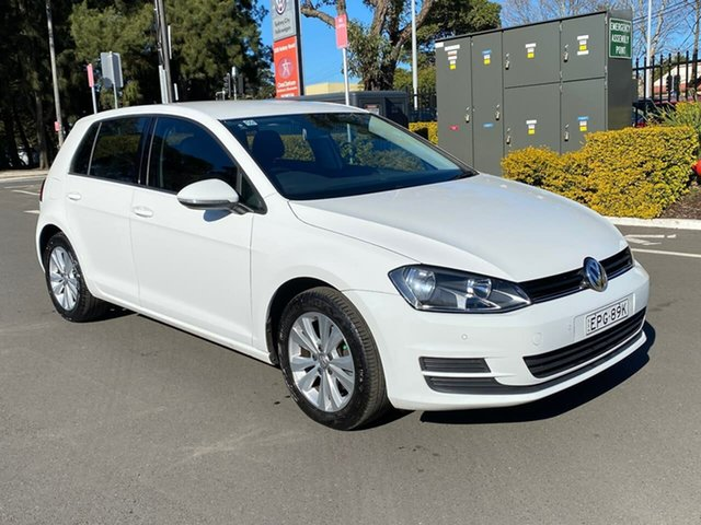 Used Volkswagen Golf VII MY16 92TSI DSG Comfortline Botany, 2015 Volkswagen Golf VII MY16 92TSI DSG Comfortline White 7 Speed Sports Automatic Dual Clutch