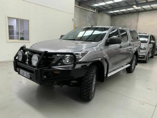 2018 Mazda BT-50 UR0YG1 XT Silver 6 Speed Sports Automatic Cab Chassis.