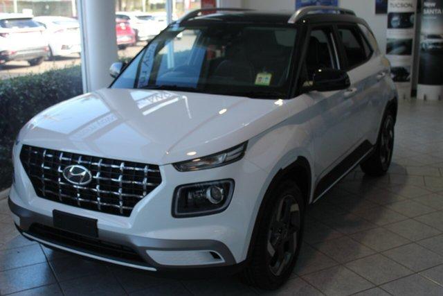 New Hyundai Venue QX.V3 MY21 Elite North Gosford, 2021 Hyundai Venue QX.V3 MY21 Elite Polar White 6 Speed Automatic Wagon