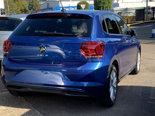 2021 Volkswagen Polo AW MY21 85TSI DSG Style Blue 7 Speed Sports Automatic Dual Clutch Hatchback.