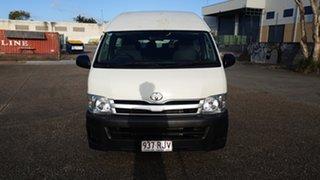 2010 Toyota HiAce TRH223R MY07 Upgrade Commuter White 5 Speed Manual Bus