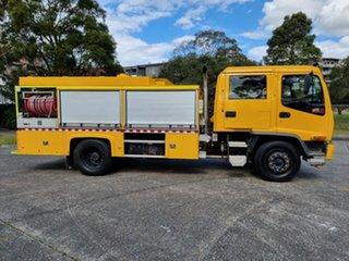 1999 Isuzu FTR 800 Dual Cab Yellow Firetruck.