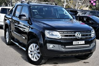 2015 Volkswagen Amarok 2H MY15 TDI420 4Motion Perm Highline Deep Black 8 Speed Automatic Utility.