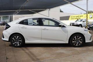 2018 Honda Civic 10th Gen MY18 VTi-S White 1 Speed Constant Variable Hatchback.